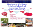 Bedstone College Cricket Match and Summer Fayre