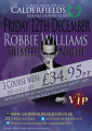 Robbie Williams Tribute night in Walsall at Calderfields Golf and Country Club
