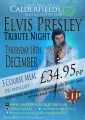 Elvis Presley tribute act in Walsall at Calderfields Golf and Country Club
