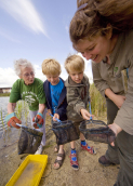 Pond Dipping and Design - outdoor kids learning and crafts