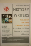 Evening with the History Writers at Booka