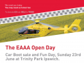 East Anglian Air Ambulance Car Boot and Fun Day