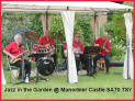 Jazz in the gardens at Manorbier Castle