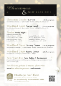 Woodland Court Festive Dinner Menu