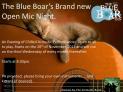 Open Mic night at The Blue Boar.