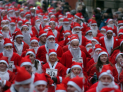 Santa's Dash across Wimbledon Common