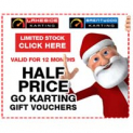 Lakeside Karting Half Price Christmas Voucher Sale