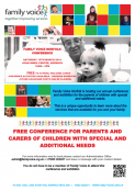 FAMILY VOICE CONFERENCE AND EXHIBITION - FREE TO ATTEND