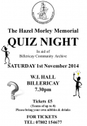 Hazel Morley Memorial Quiz
