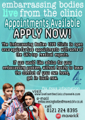 Embarrassing Bodies Live - Appointments Available NOW!