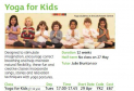 Yoga for kids at the Letchworth Centre