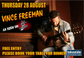 Vince Freeman Live in The Lakeside Brasserie