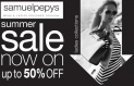 SAMUEL PEPYS LADIES' SUMMER SALE