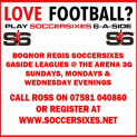 6ASide Men's Football in Bognor Regis @ The Arena