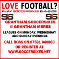 6ASIDE MENS FOOTBALL IN GRANTHAM at GRANTHAM MERES ASTROTURF
