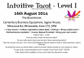Intuitive Tarot Tuition with Tracy Fance - Level I 16th August 2014