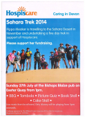 Sahara Trek Fundraising Day for Hospiscare