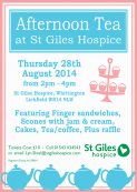 Afternoon Tea at St.Giles Hospice