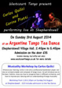 Argentine Tango Tea Dance with Live Music