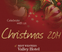 Festive celebrations 2014 at Best Western Valley Hotel