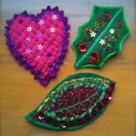 Embroidered Christmas Brooches - Day School
