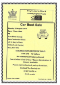 Car Boot Sale at Bury Blind Society