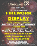Firework Display @ The Chequers - Swinford