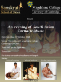 An evening of South Asian Carnatic Music