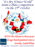 Winter World 'Paint a Plate' Competition - Part of The Big Draw
