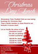 Christmas Day Lunch at Shrewsbury Town FC