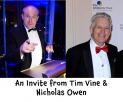 Local Television Stars Invite You To Charity Ball for@childrens_trust @RealTimVine and Nicholas Owen
