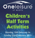 Half Term Activities For Kids at One Leisure St Neots