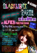 Blacklight Party @ Alfies function room for 13 to 16 year olds