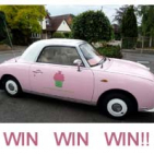 Raffle of Pink Nissan Figaro courtesy of enjoy...