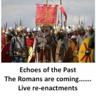 Echoes of the Past History Festival – the romans are coming.. at Bourne Hall Ewell @epsomewellbc #horriblehistory