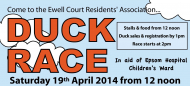Go Quackers and pick your duck! Ewell Court Residents Annual Duck Race #ewellduckrace