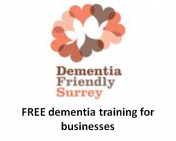 Dementia Friendly Surrey offers FREE dementia training for businesses