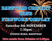 Firwworks at Banstead Cricket Clubc @Banstead_CC @BansteadLife @fireworks