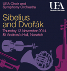 UEA Choir and Symphony Orchestra concert: Sibelius and Dvořák