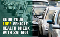 Free Vehicle Health Check with SAI MOT