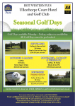Seasonal Golf Day Offers