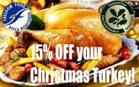 15% OFF your Xmas Turkey!