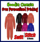 For Xmas - Hoodie Onesie - Free Personalised Printing