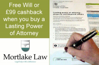 Free Will or £99 cashback with every POA