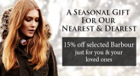 15% OFF selected Barbour products at FRS Countrywear