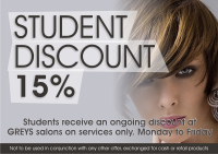 15% off for Students