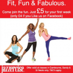 Jazzercise - First class only £5 (£4 if you like us on Facebook)