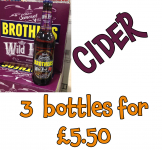 3 x Brothers Wild Fruit Cider £5.50