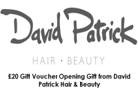 £20 Gift Voucher Opening Gift from David Patrick Hair & Beauty
