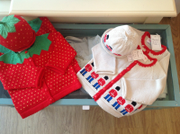 Merry Berry cardigans with matching hats, lovely Easter gifts